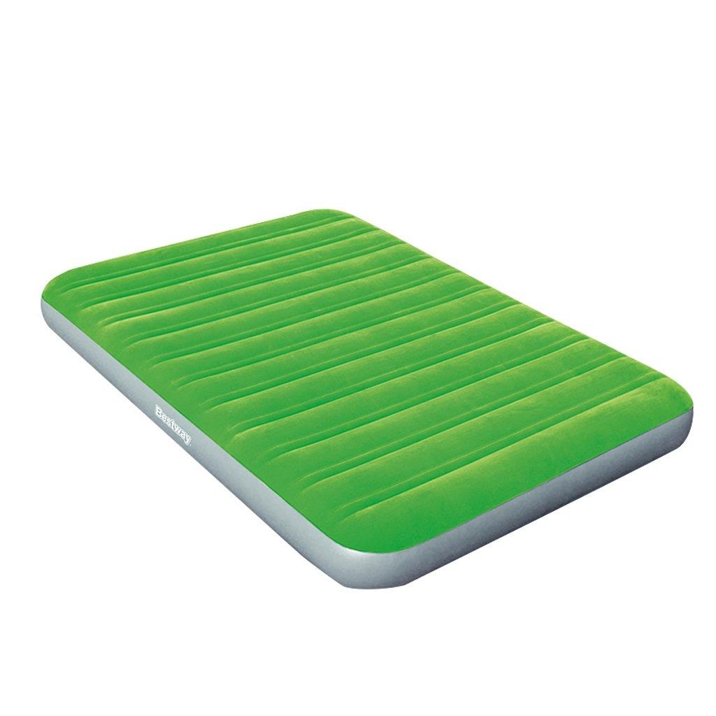 Aufblasbares Bett MMM- Einlagiges Grünes Luftmatratze-Erhöhungs-Luft-Bett-kampierender Haushalt im Freien Verdicken bewegliches