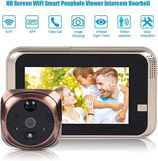 4.3inch LCD Doorbell Peephole Viewer Home Door Security Camera Video Monitor
