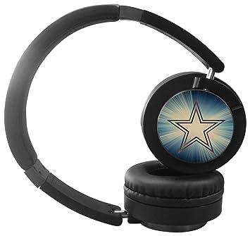 Majors móvil Púas de guitarra tienda dallas cowboys estéreo auriculares inalámbricos con micrófono de diadema plegable