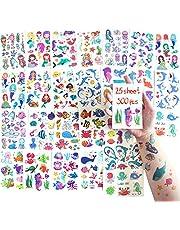SNAIL GARDEN 300 Pcs Sea Temporary Tattoos for Kids, Fake Waterproof Tattoo Sticker for Children Girls Party Favors