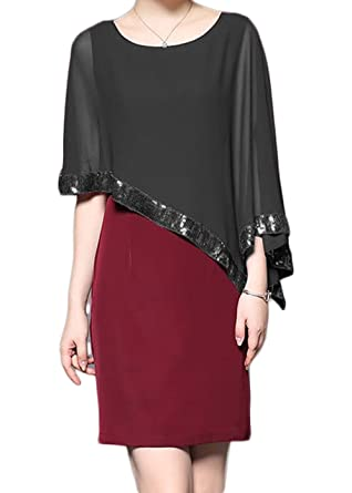 Rongstore Women s Chiffon Pashmina Shawls and Wraps with Sequin Black S f044fb7d4236