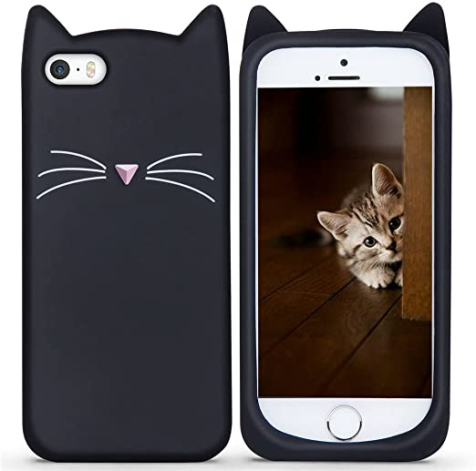 Cat iPhone 6 Plus 6S Plus Case Cute Lovely Kitten Design Glitter Silicone Soft Protective Cover for Girls Teens for iPhone 6S Plus 5.5 Inch Bling ...