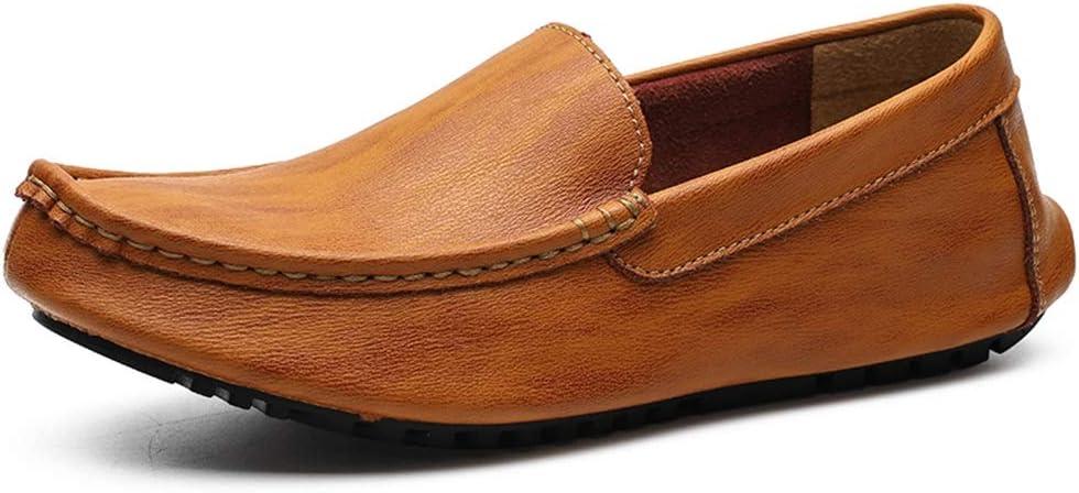 Zhulongjin Mocasines Casuales Retro sin Cordones for Hombres Mocasines for Caminar Zapatos náuticos Cuero Genuino Salvaje Ligero Suave Suela Vegana Resistente al Desgaste Moda: Amazon.es: Hogar