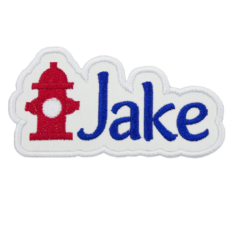 Fire Hydrant Name Personalized Applique Patch - Iron on patch
