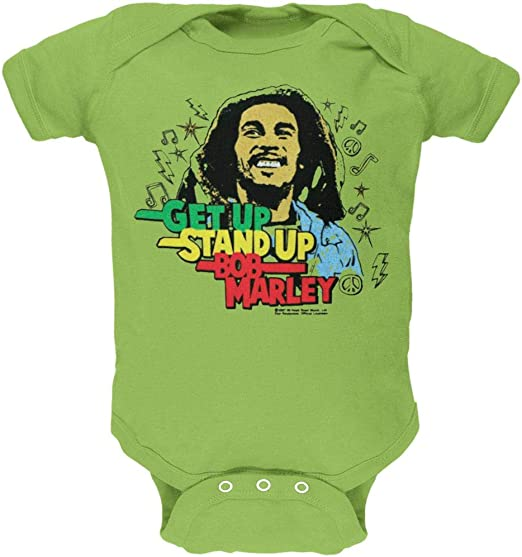 Get Up Baby One Piece Bob Marley