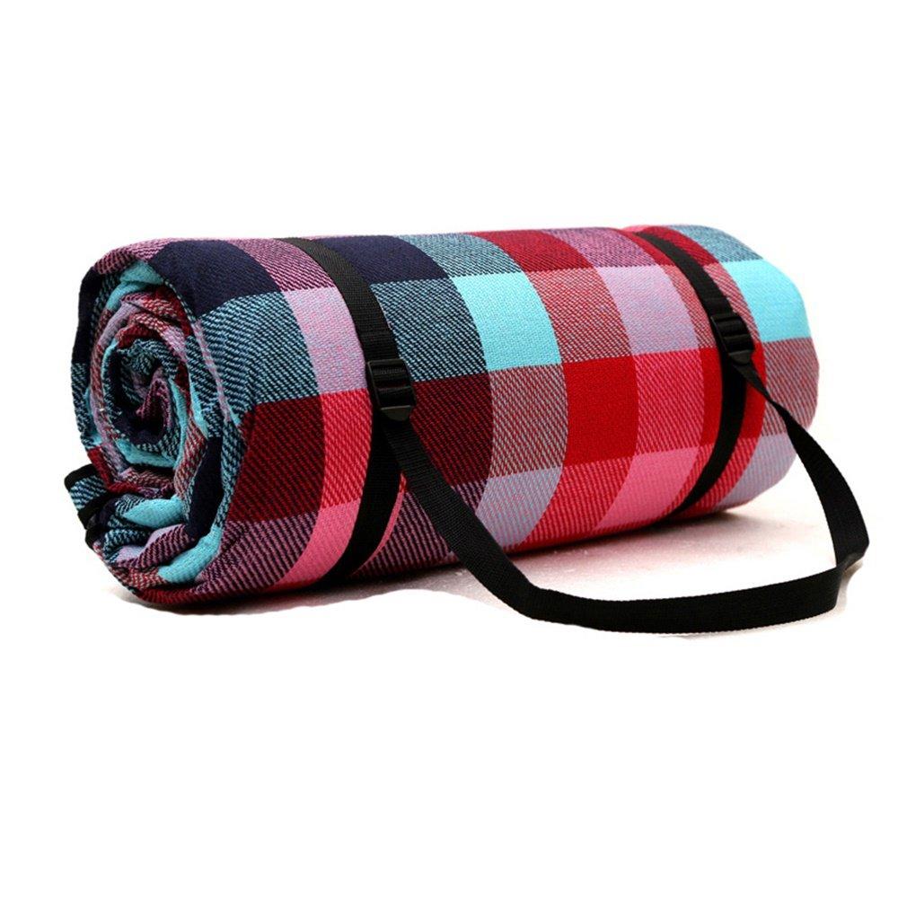 OUTDOOR Coco Große Picknickdecke Acryl Multiplayer Dicke Widen Wasserdichte Zelt Isomatte 300X300 cm (Farbe   Fashion Grid) B07CZFMDY1 | Authentisch
