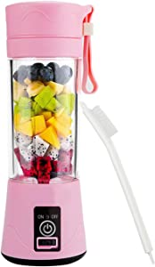 Portable Blender Mixer Juicer Machines-Six SUS304 Blade, 13oz Handheld Mini Extractor, 2000mAh USB Rechargeable Battery, Detachable Cup, Perfect for Home Travel Use