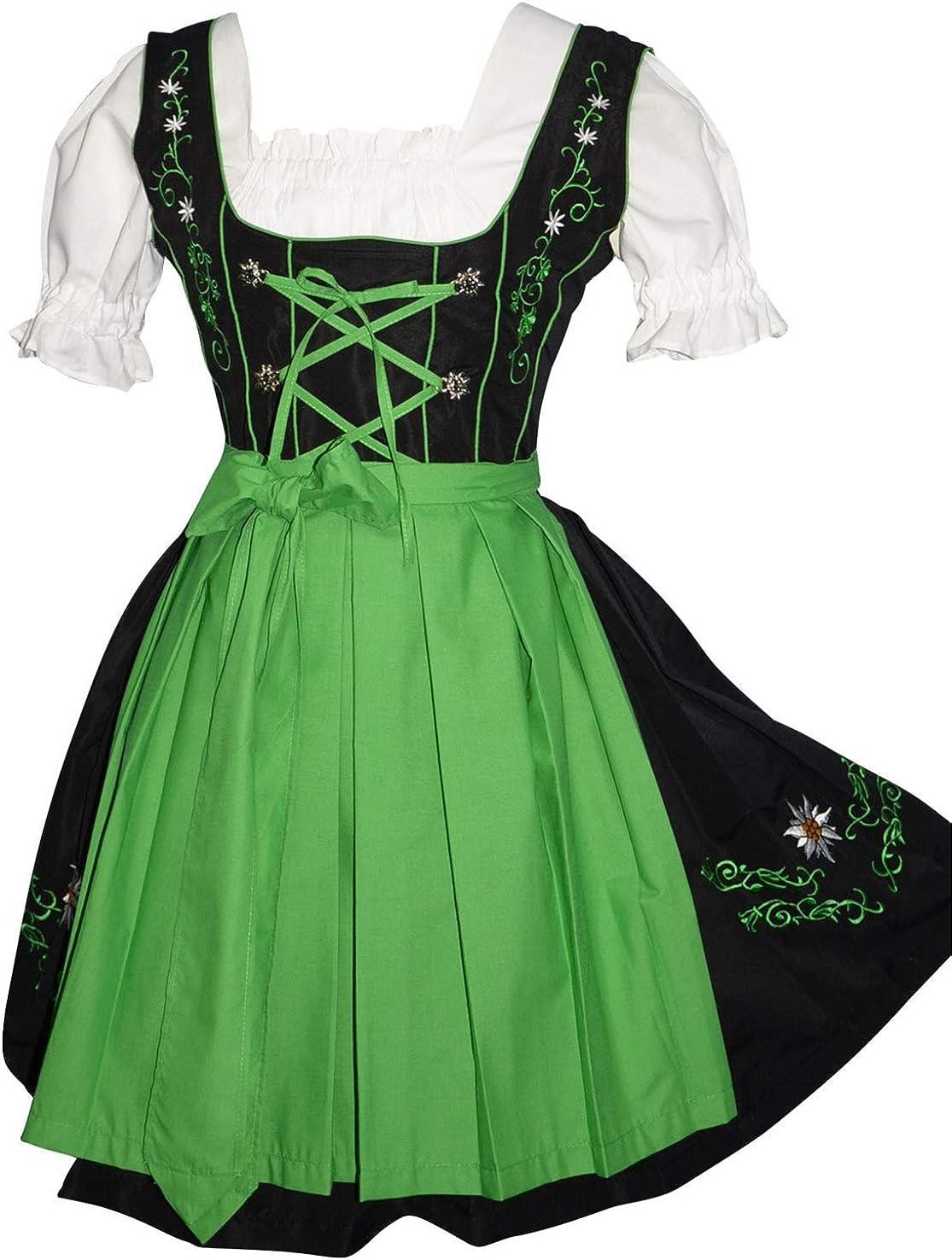 Amazon.com: 3-piece Vestido de fiesta alemana Oktoberfest ...