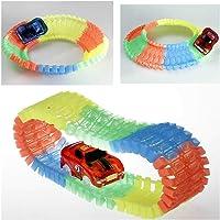 Flexi Track 168 Parça, 205 cm Parkur - LED Işıklı Arabası ile Esnek Raylı Yarış Pisti