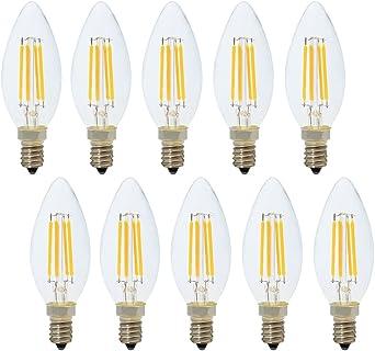 2700K C35 E14 Filament LED LeuchtmittelKerze 4,5W 470Lm 230V//AC warm white