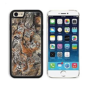 Animals Six Tigers Family on Rock Iphone 4/4S TPU Snap Cover Premium Aluminium Design Back Plate Case Customized Made to Order Support Ready MSD iPhone_6 Professional Case Touch Accessories Graphic Covers Designed Model Sleeve HD Template Wallpaper Pho by icecream design