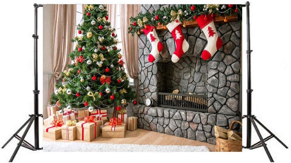Koojawind 5X3Ft Weihnachten Hintergrund Weihnachtsdekoration Baum Rentier Bokeh Lichter Kulissen F/üR Fotografie Weihnachten Vinyl Frohes Neues Jahr Vinyl Foto Hintergrund