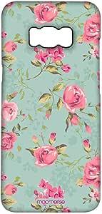 جراب Macmerise Teal Pink Flowers Pro لهاتف Samsung S8 Plus