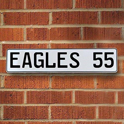 Vintage Parts 336832 Wall Art (EAGLES 55 NFL Philadelphia Eagles White Stamped Street Sign (Nfl Enamel)