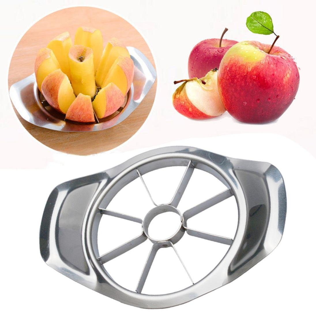 Fruit Cutter,Byste New Apple Cutter Pear Divider Peeler Stainless Steel Easy Cut