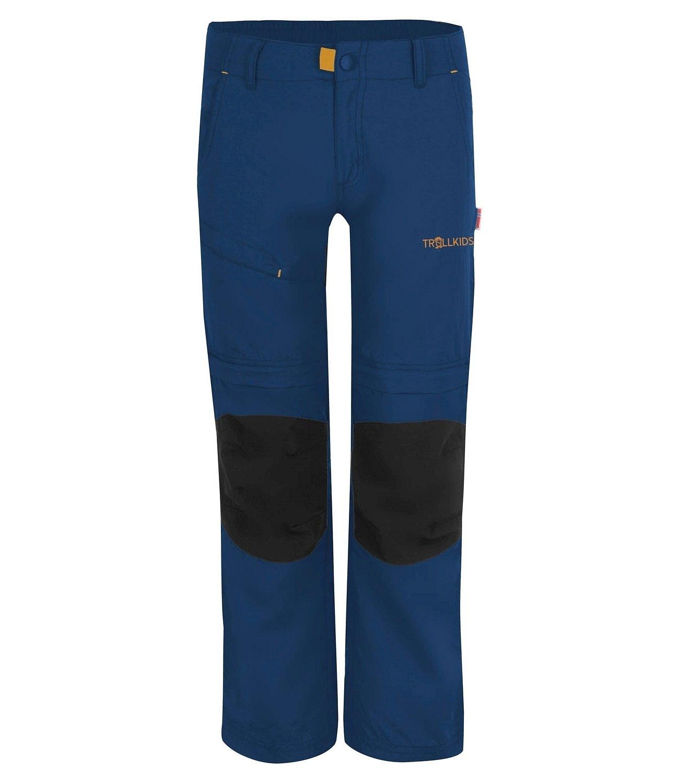 Trollkids Kids' Hammerfest Lightweight Zip-Off Hiking Pants XT with Adjustable Waist, Navy, Size 7-8T (128)