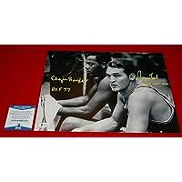 $408 » JERRY WEST ELGIN BAYLOR Los Angeles Lakers signed 11X14 photo Beckett COA HOF - Autographed NBA Photos