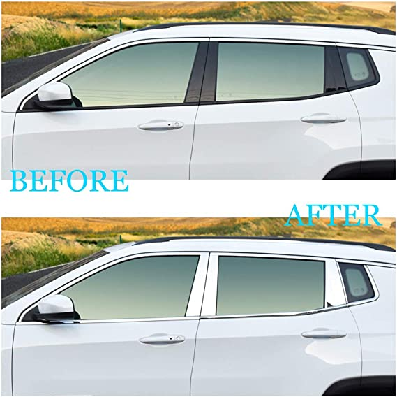 Stainless steel Window Pillar Posts trim For Jeep Compass 2017 2018 2019
