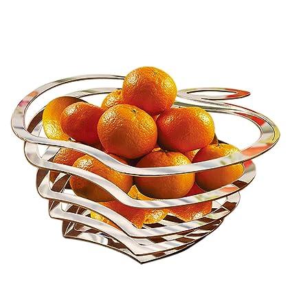 JANSUDY Cesta De Frutas Sala De Estar Placa De Fruta De Acero Inoxidable (30 *