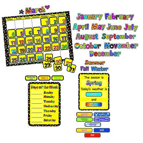 (Creative Teaching Press Poppin Patterns Calendar Chart Set - 24 x 17 1/2 inches - Set of 44)