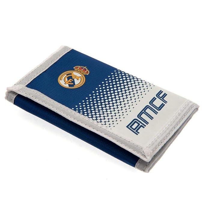 Real Madrid FC - Cartera de nylon con cierre adhesivo (12 x ...