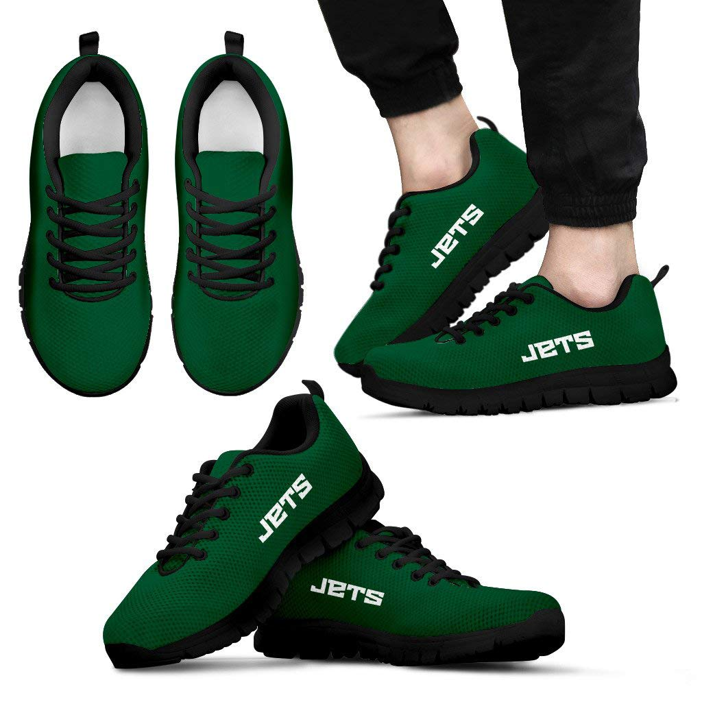 NY Jets Themed Casual Athletic Running Shoe Mens Womens Sneakers Sizes Football Apparel and Gifts for Men Women New York Jet Merchandise