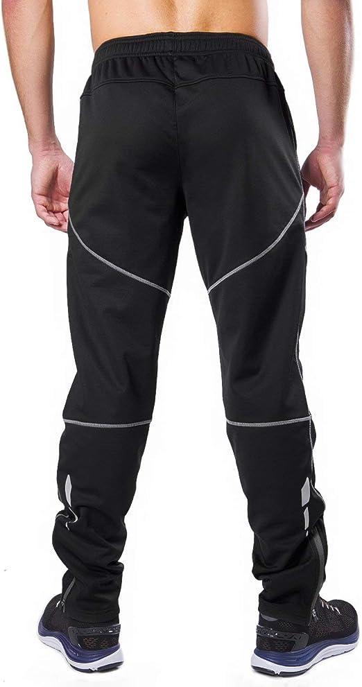 BALEAF Pantaloni Termici Invernali da Uomo Antivento in Pile per Bicicletta e Ciclismo