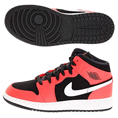 differently b0c63 e3ee6 Nike Air Jordan 1 Mid (GS), Chaussures de Fitness garçon, Multicolore (