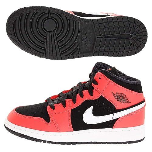 Nike Air Jordan 1 Mid (GS), Zapatillas de Deporte para Niños: Amazon.es: Zapatos y complementos