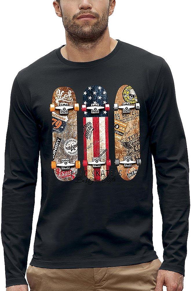 PIXEL EVOLUTION Camiseta de Manga Larga Free Skaters Hombre: Amazon.es: Ropa y accesorios