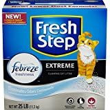 FRESH STEP CAT LITTER 261348 Fresh Step Extreme Odor Solution Scoop Litter Boxes for Cats, 25-Pound (2 Packs)