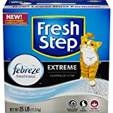 FRESH STEP CAT LITTER 261348 Fresh Step Extreme Odor Solution Scoop Litter Boxes for Cats, 25-Pound (3 Packs)