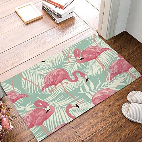 Cheap  Flamingos With Tropical Leaves Pattern Door Mat Rug Indoor/Front Door/Shower Bathroom Entrance..