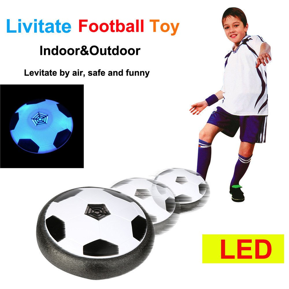 JIUZHOU Best Online Toy Shop LED Air Power Training Ball Soccer Football Goal Set Hover Ball With 2 Gates
