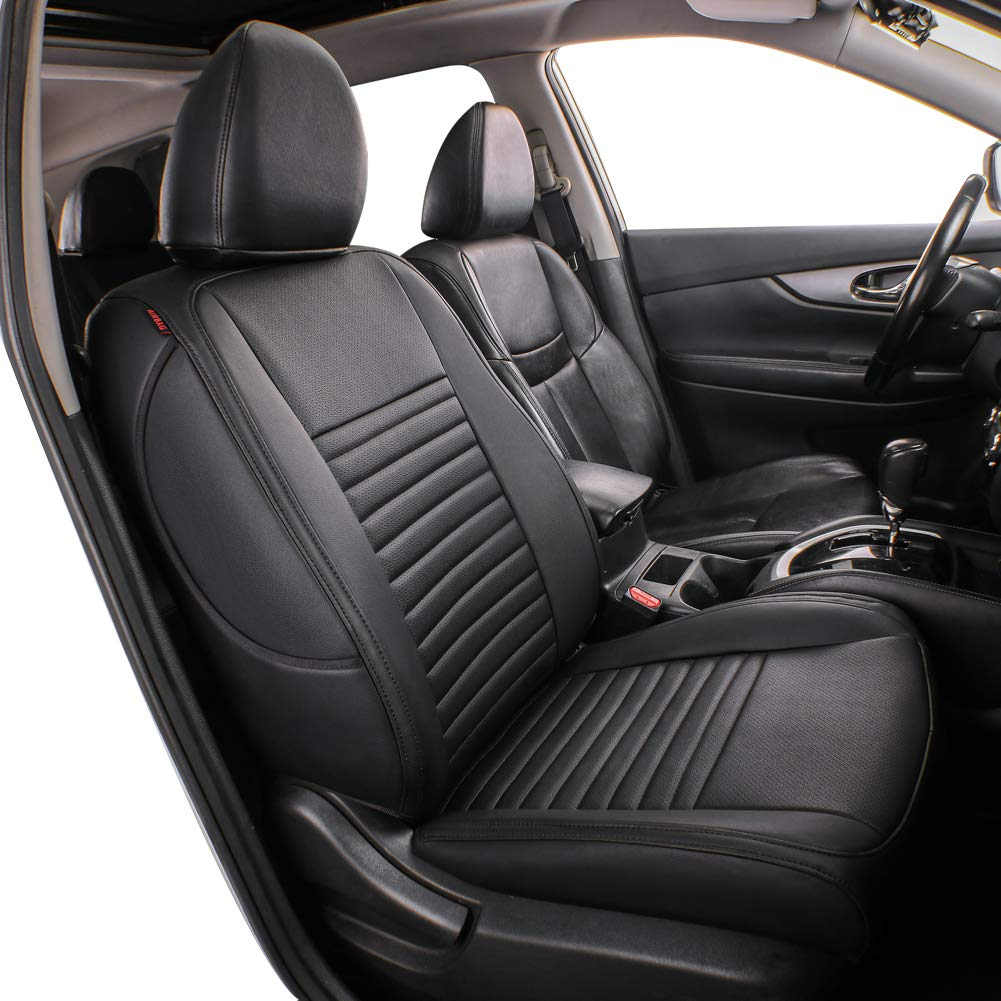 Black Color NOT for EV OR Hybrid Airbag Compatible Lingyue Leatherette Custom Fit Car Seat Cover Full Set for RAV4 Limited XLE SE Platinum Adventure 2013 2014 2015 2016 2017 2018