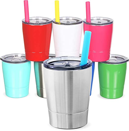 Amazon Com Colorful Popo Kids Stainless Steel Cup Lovely Small Rambler Tumbler Sippy Cup With Lid And Silicone Straw 8 5 Oz 1 Natural Color Tumblers Water Glasses,Different Types Of Flower Arrangements