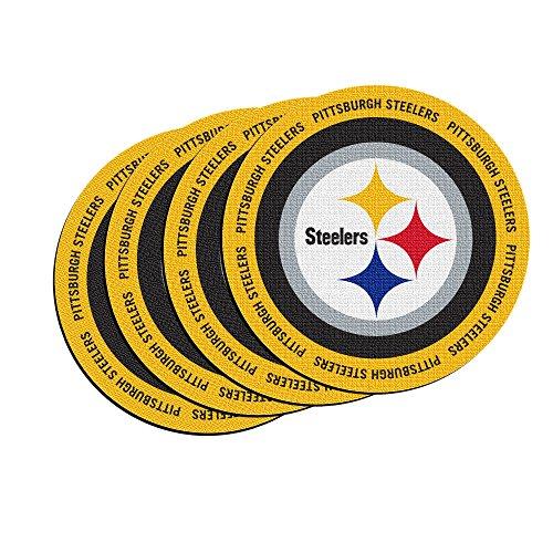 NFL Pittsburgh Steelers Neoprene Ring of Honor Coasters, Set of 4 (Coaster Pittsburgh Set Steelers)