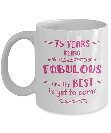 Amazon Happy 75th Birthday Mug