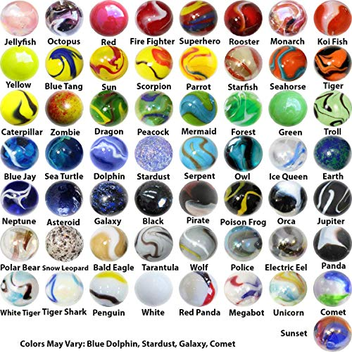 OnlineScienceMall Mega Marbles Player Bundle - Pack of 57 in 14mm & -