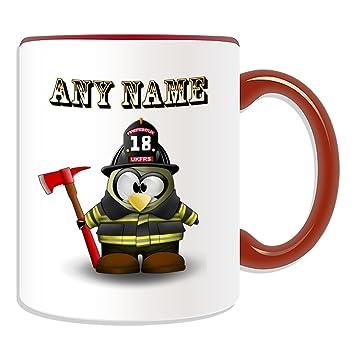 Personalisierter Geschenk-Firefighter mit Axt Becher (im Pinguin ...
