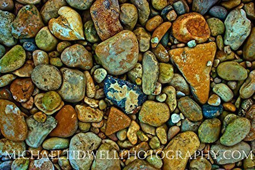 18'' x 24'' Medina River Rocks Canvas Print by Michael Tidwell Photography by Michael Tidwell Photography