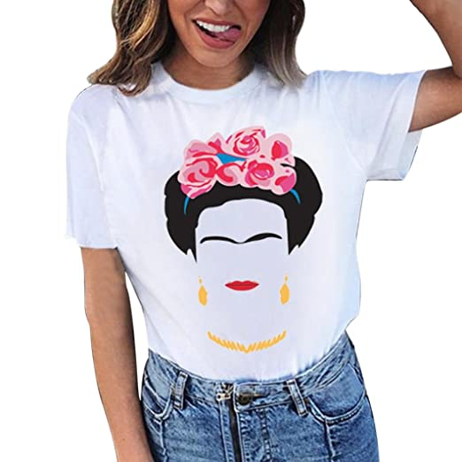 0c66f8ee8ac Amazon.com  Wintialy Women Girls Plus Size Print Tees Shirt Long Sleeve  Cotton Blouse Tops  Clothing
