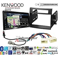 Volunteer Audio Kenwood DNX574S Double Din Radio Install Kit with GPS Navigation Apple CarPlay Android Auto Fits 2012-2013 Kia Soul