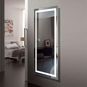 Amazon Com Large 70 X32 Led Full Length Backlit Mirror Antifog Oversized Rectangle Dressing Illuminated Mirror With Infrared Sensor Wall Mounted Full Size Wall Frameless Mirror With Led Lights Ck010 7032 Gs Furniture Decor
