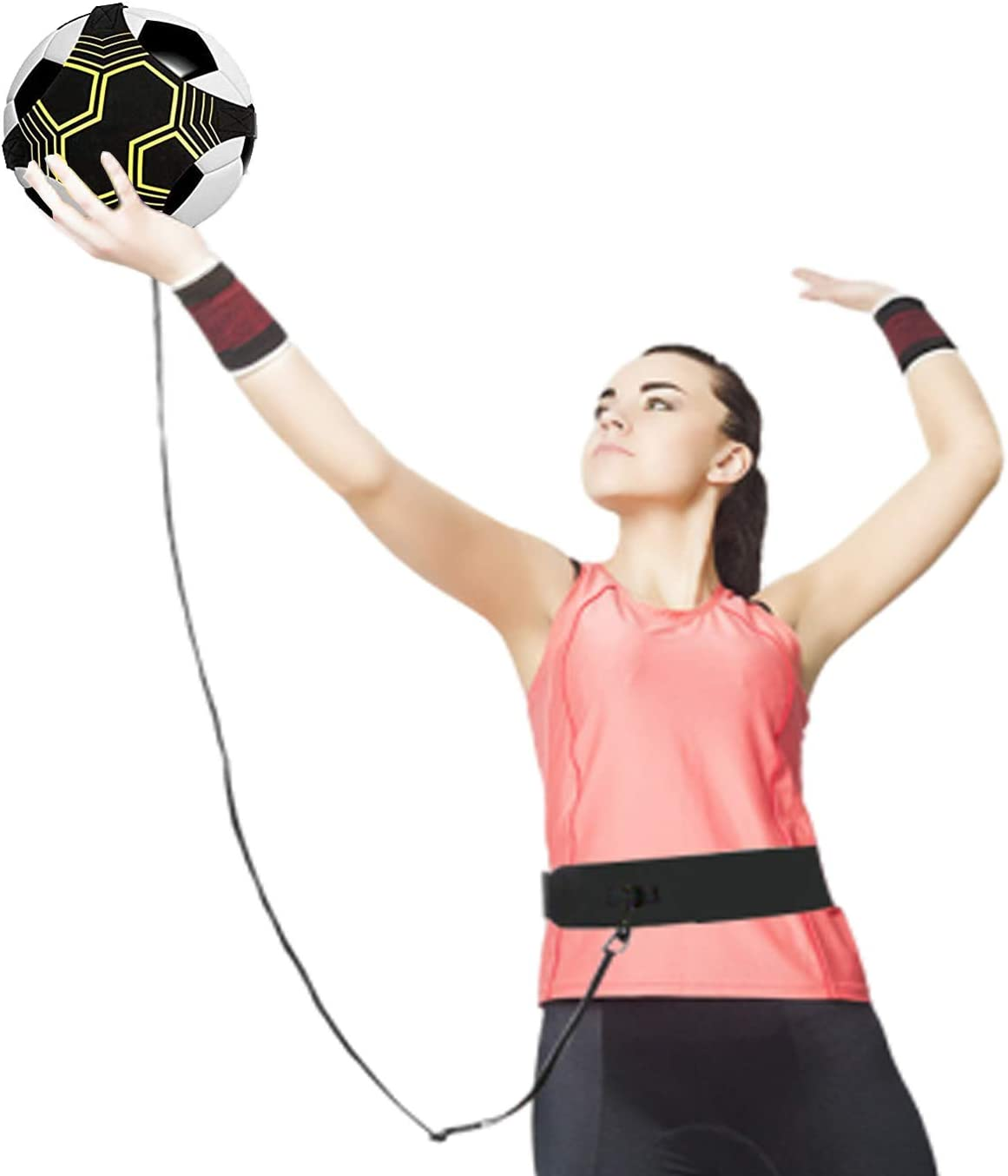 Little World Volleyball Trainer, Volleyball Training Equipment Aid Solo Practice Perfect for Beginners Practicing Serving, Setting and Spiking : Sports & Outdoors