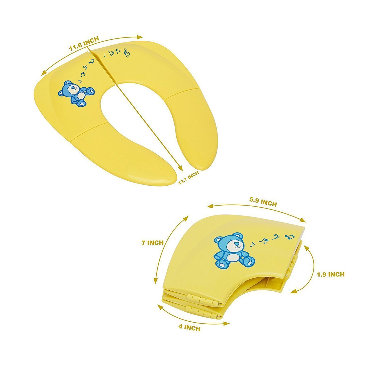 Little Mikeys Foldable Travel /& Portable Toilet Seat Cover for Babies /& Toddlers With Carry-on Bag