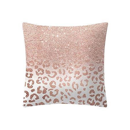 Fodera Per Testata Letto Matrimoniale Ikea.Npradla Fodera Per Cuscino Quadrato In Oro Rosa Con Federa Seta