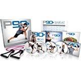Beachbody Tony Horton's P90 4 DVD Boxset Workout Exercise Programme Base Kit with 10 Workouts, Nutrition Guide and Resistance Band