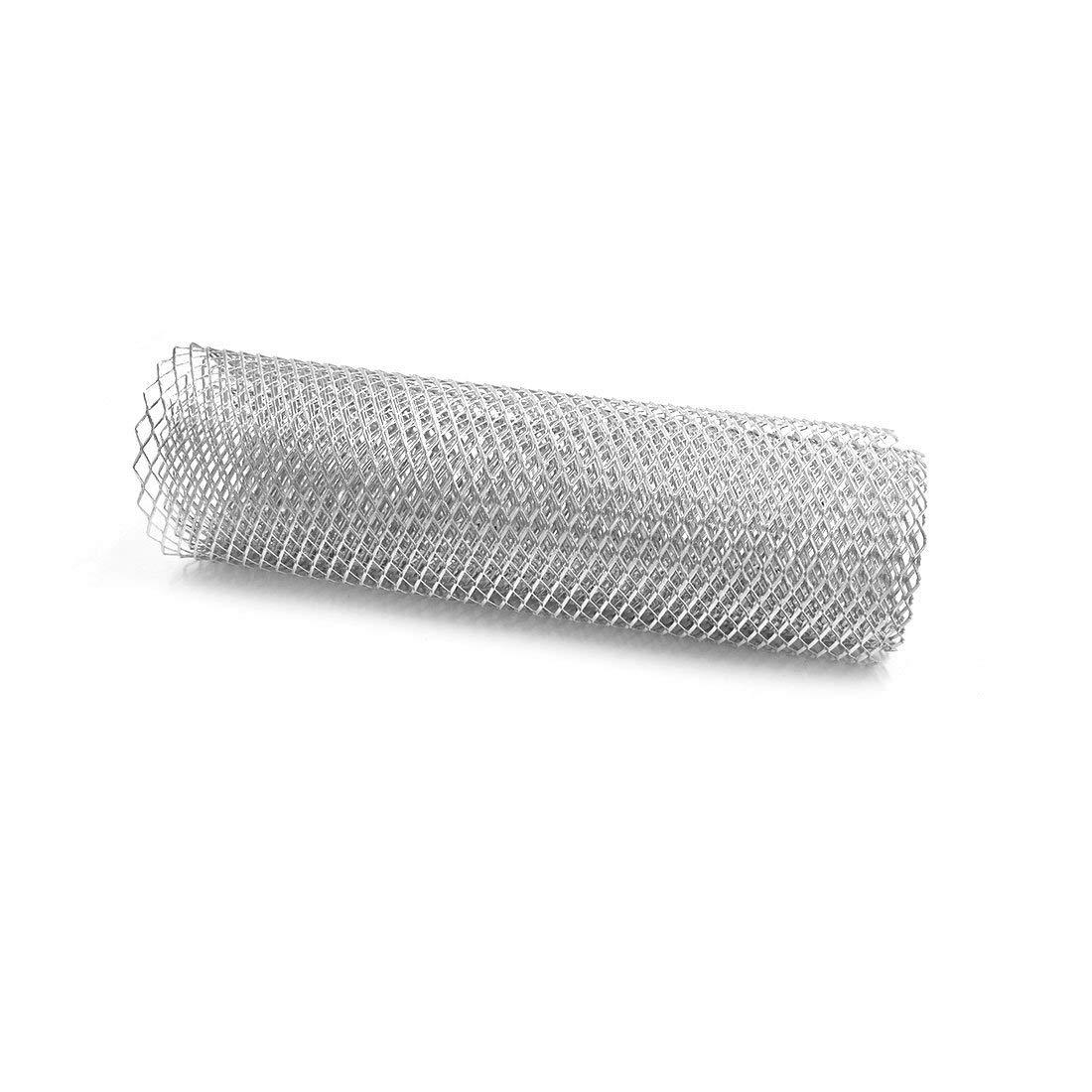 100x33cm Alliage aluum Avant Voiture rhombiques Grill Mesh 8x16 mm