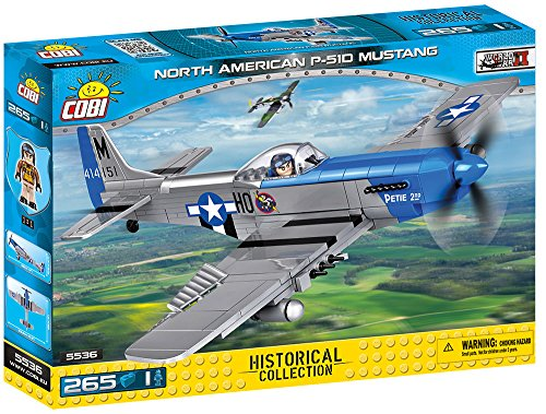 Usaaf Fighter Pilot - COBI Small Army - Historical Collection - North American P-51D Mustang Plane Building Kit